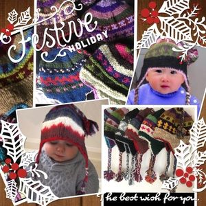 Other - NEW Kids Fairisle Hand Knitted Nepal Made Wool Hat